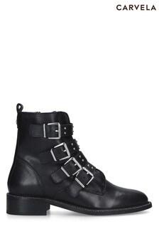 Carvela Black Strap Boots