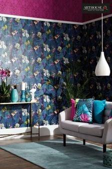 Arthouse Blue Pindorama Floral Wallpaper