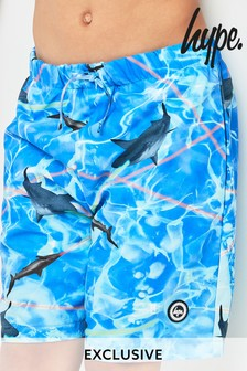 Hype. Blue Laser Shark Swim Short