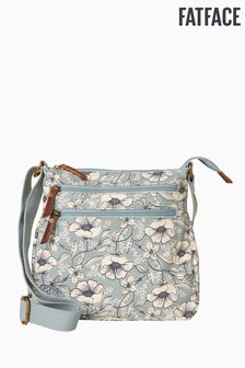 FatFace Dragonfly Floral Canvas Cross Body Bag