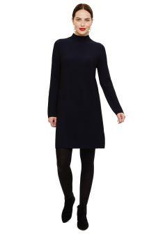 Phase Eight Black Ronnie Rib Tunic Dress