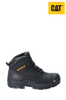 CAT Black Bearing Lace-Up Safety Boots