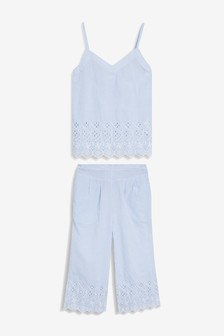 Broderie Cotton Pyjamas