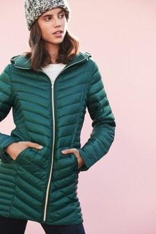 Длинная складывающаяся куртка с утеплителем