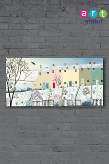 Winter Row by Jo Grundy Canvas