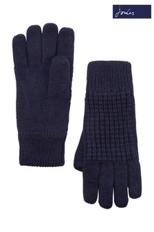 Joules Midnight Knitted Waffle Gloves