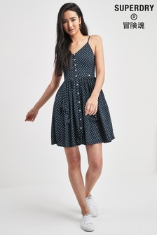 Superdry Navy Polka Dot Dress