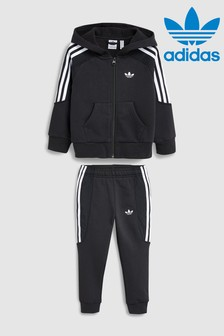 adidas Originals Little Kids Radkin Black Tracksuit