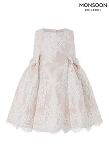 Monsoon Pink Baby Valeria Lace Dress