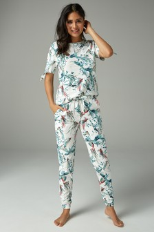 Bird Print Cotton Pyjamas