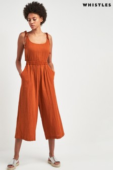 Whistles Rust Mila Casual Jumpsuit