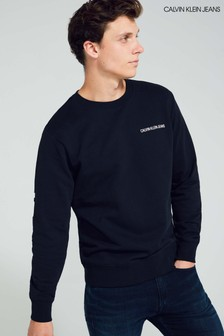 Calvin Klein Jeans Black Institutional Back Logo Sweatshirt