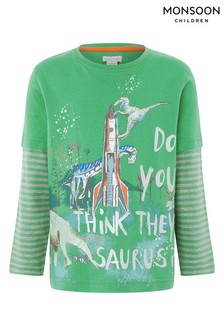 Monsoon Green Do You Think They Saurus T-Shirt