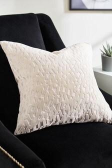 Harper Cut Velvet Geo Cushion