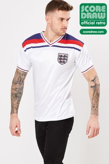 Score Draw England 1982 World Cup Finals Retro Jersey