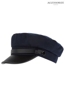 Accessorize Navy Baker Boy Hat