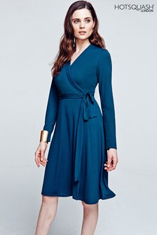 HotSquash Woodland Teal The Wrap Dress