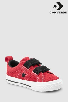 Converse Red Infant Dark Star Velcro Trainer