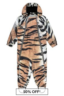 Molo Baby Tiger Print Snowsuit