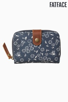 FatFace Blue Posy Bee Canvas Purse