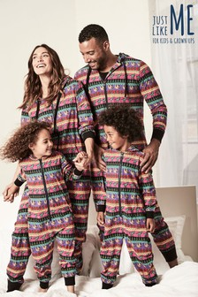 Mens Christmas Print All-In-One