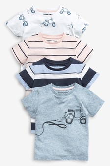 Scooter T-Shirts Four Pack (3mths-7yrs)