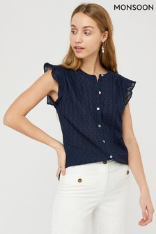 Monsoon Blue Elodie Top