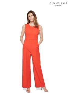 Damsel In A Dress Orange Camilla Jumpsuit
