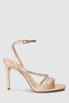 Plait Detail High Sandals