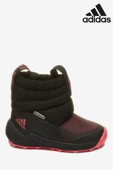 Черно-розовые ботинки для малышей adidas RapidaSnow