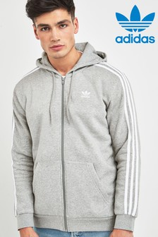 adidas Originals 3 Stripe Zip Through Hoody