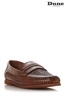 Dune London Tan Woven Apron Loafer Shoe