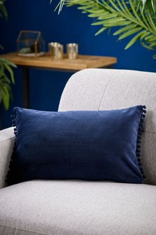 Soft Velvet Pom Edge Cushion