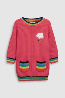 Rainbow Pocket Jumper Dress (3mths-7yrs)