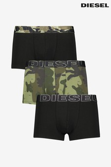 Diesel® Camo Logo Waist 3 Pack Trunks