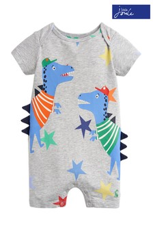 Joules Grey Patch Jersey Appliqué Babygrow