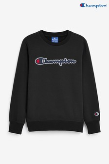 Champion Black Crew Jumper