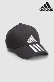 Черная кепка adidas с 3 полосками