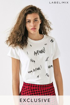 Mix/Isa Arfen Printed Logo T-Shirt