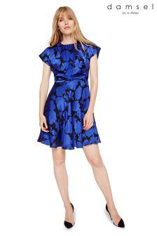 Damsel In A Dress Blue Elsa Devoré Dress
