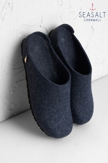 Seasalt Blue Night Trevaunance Slippers
