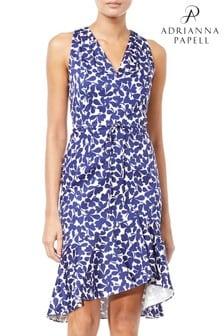 Adrianna Papell Cotton Halter Dress