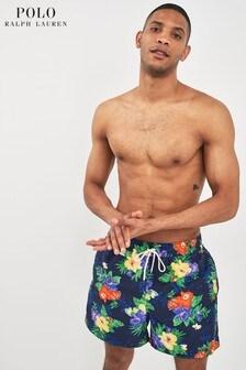 Polo Ralph Lauren Navy Carribean Floral Swim Short