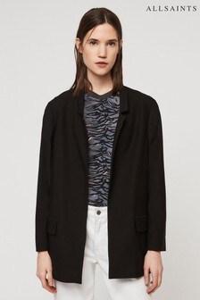 AllSaints Black Aida Jersey Blazer