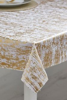 Gold Metallic Foil Table Cloth