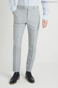 French Connection Slim Fit Pebble Marl Trouser