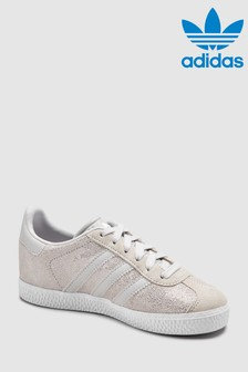 adidas Originals White/Grey Gazelle Junior