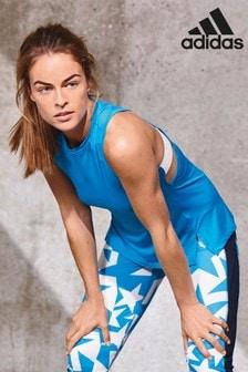 adidas Shock Blue Strappy Training Tank