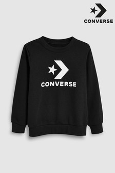 Converse Black Star Chevron Crew
