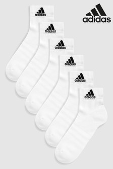 adidas White Ankle Socks Six Pack
